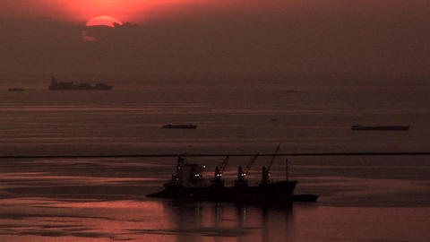 Dramatic Sunset, Manila Bay, Philippines Live Action