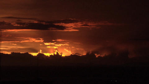 Dramatic Sunset over Manila Bay, Philippines Live Action