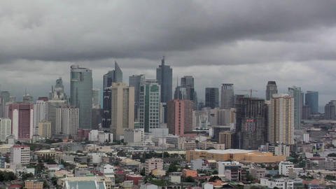 Makati Skyline, Manila, Philippines Live Action