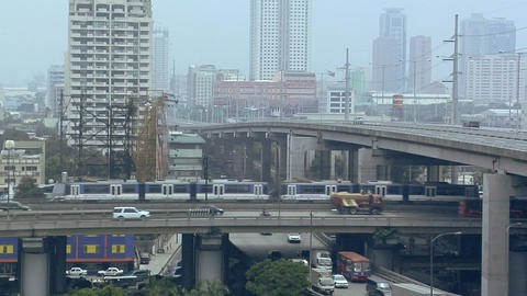 Flyover South Super Highway in Magallanes, Manila, Philippines Live Action