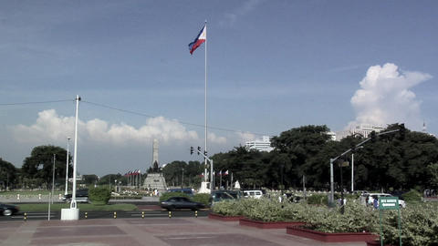 Rizal Memorial in Rizal Park in Manila, Philippines Footage
