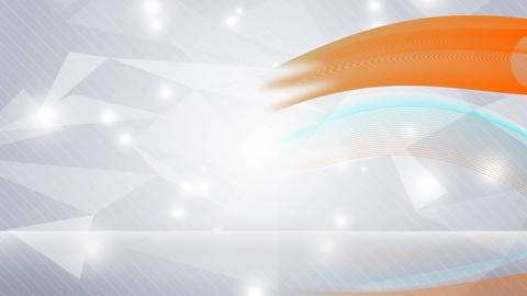 Cyan and orange wave on light grey background Animation