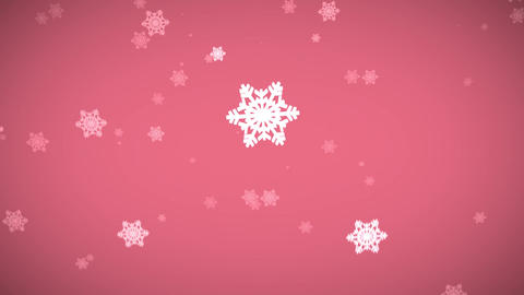 fantasy candy pink snowflake CG動画素材