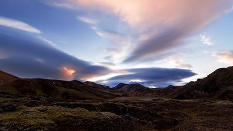 Beautiful Landmannalaugar National Park, Iceland Footage