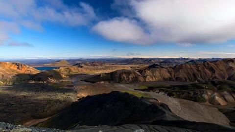 Landmannalaugar area in Iceland Footage