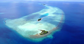 v09922 vacation in maldives tropical islands with view from aerial flying drone Live Action
