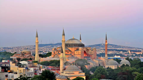 Hagia Sophia is the famous historical building of Istanbul Footage