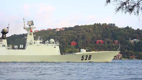 Chinese Jingkai II (Type 054A) class frigate Footage