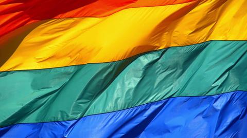 Rainbow Gay Pride Flag Slow Motion Image