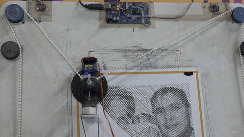 teaching model of automatic drawing device Footage