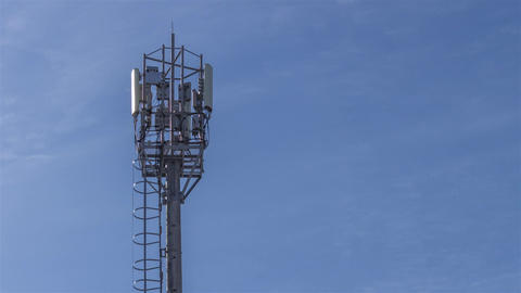 The tower with a staircase to the antennas of mobile phone communication, Footage