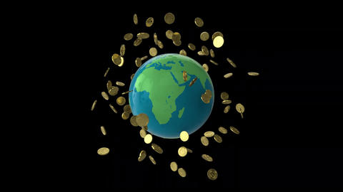 Globe Bitcoin Spin Animation