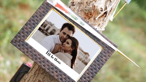 Photo Gallery in a Sunny Park After Effects Template