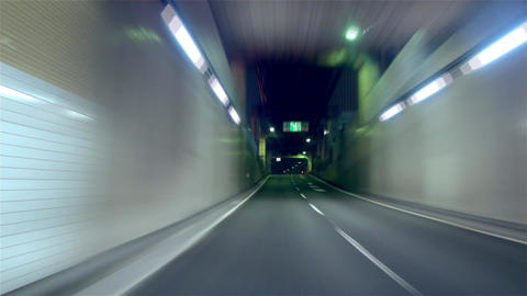 "Timelapse - Metropolitan Expressway. Inner circle route ""C1"" clockwise ビデオ"