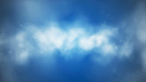 Broadcast Clouds Fly Through, Blue, Sky, Loopable, 4K Animation