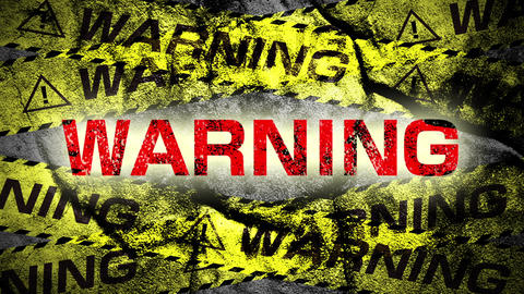 Warning tape WARNING CG動画