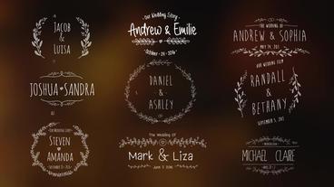 Wedding Vintage Titles Motion Graphics Template