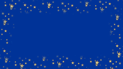 Dark blue animated frame with flashing stars and copy space, christmas or new CG動画素材