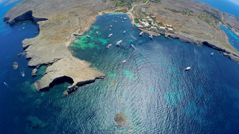 Aerial view of picturesque islands of Malta. Aerial footage Footage