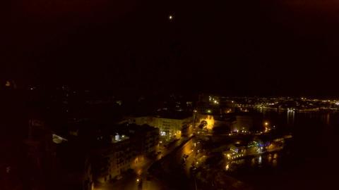 Night city from a bird's-eye view. Aerofutazh. Malta Archivo