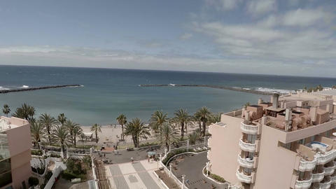Tenerife hotels. Aerial view Footage