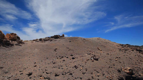 blue sky above the volcano Teide Tenerife Spain GIF