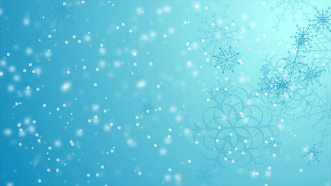 Blue falling snowflakes Christmas winter video animation 画像