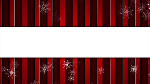 Red striped abstract Christmas video animation Animation