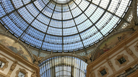 Galleria Vittorio Emanuele II in Milan Italy Footage