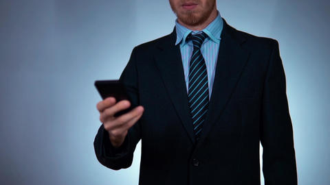 man in suit using telephone, businessman in stylish suit Image
