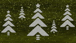 Decorative gold and white video with Christmas trees Animación