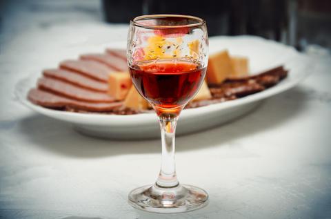 A glass of wine Foto