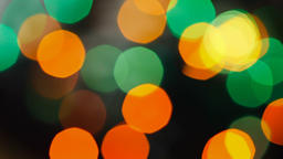 Flashing psychedelic strobes. Small, bright and overlapping blurred festive and Footage