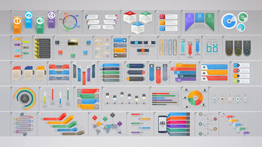 Business Infographics Bundle Plantilla de After Effects