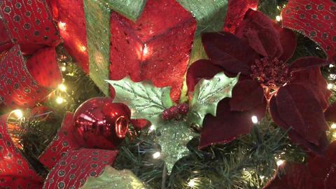 Christmas Tree decoration close up Footage