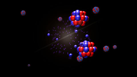 Nuclear Fission Closeup Animation Stock Video Footage