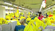 Factory Workers On Assembly Line stock footage