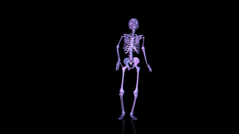 Skeleton Disco dancing. Blue Stock Video Footage