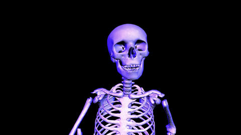 Skeleton unning Loop upper front Animation
