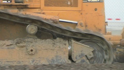 Dozer Tracks Stock Video Footage
