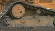 Dozer Tracks stock footage