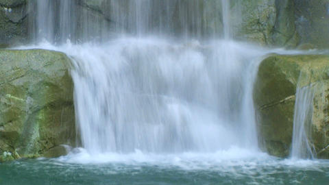 Waterfall Close-up Stock Video Footage