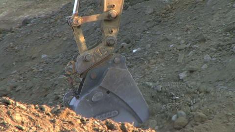 Excavator Bucket Stock Video Footage
