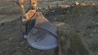Excavator Bucket stock footage