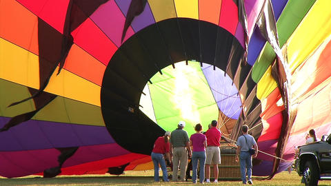 Hot Air Balloon Inflation Stock Video Footage