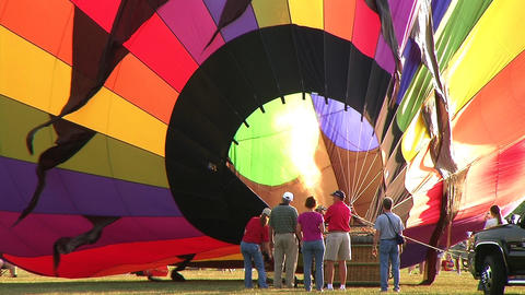 Hot Air Balloon Inflation Footage