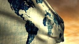 1051 World Flag Stock Video Footage