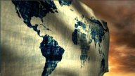 1051 World Flag stock footage
