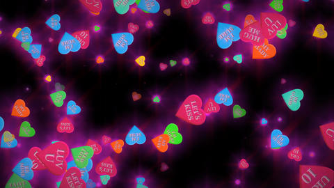 1038 Heart Conversation Candies Valentine's Day Stock Video Footage