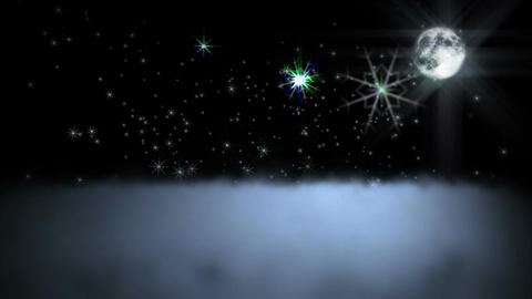 1044 Moondust Snowfall Stock Video Footage